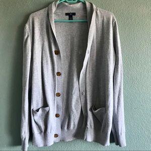 Simple Gray Cardigan by Gap